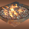 Reflective Crushed Glass Fire Pit