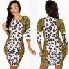 Sexy Leopard Nightclub Fashion Slim Dress Stunning Dress Slim Fit Dress 2015 Hot Sexy Dress D2568