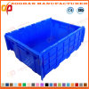 Foldable Supermarket Plastic Turnover Logistics Piled Crate with Lid (ZHTB30)