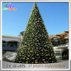 Commercial Display Decoration Motif LED Outdoor Giant Artificial Lighted Glass Christmas Tree with Ball