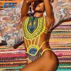 High Quality One Piece African Bikini Style Swimwear Swimsuit