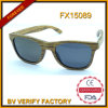 Unisex Sunglass Wood Snglasses with Dark Lens (FX15089)