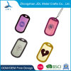 Hot Sale Fashion Design Custom Metal Stainless Steel Double Sided Embossed Logo Dog Tag with Keyring