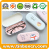 Glasses Tin Box with Flocking Cloth Inner for Gift Packaging
