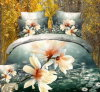 Beautiful Flowers Flat Bed Printed Fabric Bedsheets
