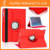 360 Rotating PU Leather Case Cover Swivel Stand for Apple iPad Air 5 5th Red