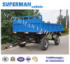 5t Utility Flatbed Agriculture Cargo Transport Drawbar Full Trailer with Sidewall