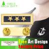 Real Reel RFID Souvenir Gold Plating Zinc Alloy Pin& Badge