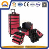 5-in-1 Large Cosmetic Trolley Case for Salon with Wheels (HB-3305)