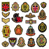 Male Sleeve Embroidery Patches Masculine Embroidered Latest Backpack Badge Patch