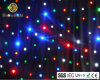 Stage Wedding Party Decoration Backdrop LED Star Curtain RGBW