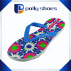 Cheap Wholesale EVA Lady Flower Straw Flip Flop