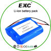 2016 Hot Sales 18650 6600mAh 3.7V Rechargeable Lithium Battery Pack