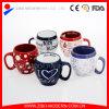Colored Glaze Ceramic Mug with Custom Design