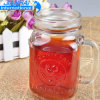 Beverage Jar Glass Mason Jar with Cover and Straw