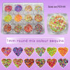 1mm Ultrathin Dazzling Round Mixed Colors Nail Sequins