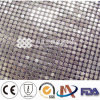 Sequin Table Cloth White/Metal Mesh Fabric
