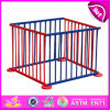 2015 Colorful Popular Wooden Playpen for Baby, Portable Wooden Baby Square Playpen, Safety Care Wooden Baby Safety Fence W08h011