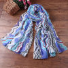Wholesale Blue Beach Stylish Thin Polyeser Scarf (HT09)