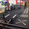UV Printed Customer Logo Fitness Gym Rubber Flooring Mats