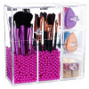 Langforth 5mm Thick Acrylic Makeup Organizer Case with Rosy Pearl Esg10207