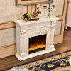 European Wood Hotel Furniture LED Lights Heater Electric Fireplace (337)
