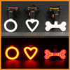 Heart Bone Shape USB Charging Rear Tail LED Bike Light