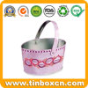 Food Grade Oval Shaped Storage Tin Metal Bucket