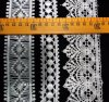 High Made Latest Designs Circles Waves Fashion Swiss Voile Embroidered Lace Trim