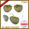 F7840 New Pilot Style Mixed Material Retro Eyeglass Frames