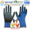 13G U3 Polyester Shell Nitrile Palm Coated Gloves (N1511) Smooth Finish with CE, En388, En420, Work Gloves