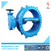 China Manufacturer Double Flanged Double Eccentric Rubber Seated Butterfly Valve
