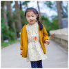 100% Cotton Soft Yellow Kids Clothes for Girls