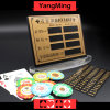 Baccarat Poker Table Pure Copper Material Entertainment Bet Card Casino Table Limit Sign with Magnet Sticking Ym-LC08