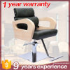 Stainless Steel Armrest Hair Cutting Chair with Barber Pole
