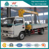 Dongfeng Cummins Telescope Crane Truck with 2 Ton Straight Arm Crane