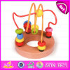 2015 Newest Kids Wooden Rolling Bead Pull Toy, Children Wooden Bead Maze Cube Toy, Cheap Wooden Indoor Activity Cube Toy W11b068