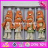 2017 New Products Christmas Wearing Warming Wooden Doll Bodies W02A247