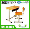 Playwood Single School Desk with Chair for Classroom Sf-04s
