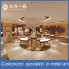 Customized 304# Red Bronze Stainless Steel Jewelry Display Showcase for Shopping Mall