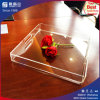 Transparent Acrylic Tray for Food and Red Wine