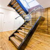 Beautiful Modern Design Double Cantilevered Steel Stringer Staircase