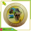 Gold Plated Die Struck Brass Gold Plated Metal Souvenir Soft Enamel Police Coin (048)