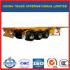 Manufacturing 3 Axles 40FT Platform Semi Trailer for Sale