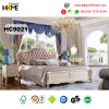 European Wood Furniture King Size Bed and Leather Headboard (HC9021)