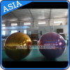 Inflatable Large Disco Ball, Disco Mirror Gold Balloon in Club in Show with Purple Color