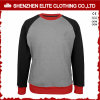 Custom Raglan Sleeve Grey Women Crewneck Sweatshirt with Pockets (ELTSTJ-762)
