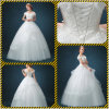 Satin Lace Puffy Ball Gown Wedding Dress (Dream-100069)