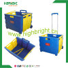 Pack and Roll Supermarket Color Plastic Foldable Cart