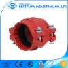 Red Painted FM UL Grooved Coupling Used on Fire